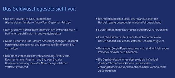 Eurich Immobilien Info Geldwäschegesetz